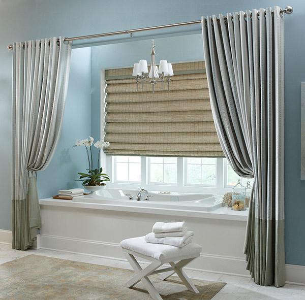 Tenha uma casa de banho mais bonita - cortinas de banho estilo salão de ópera