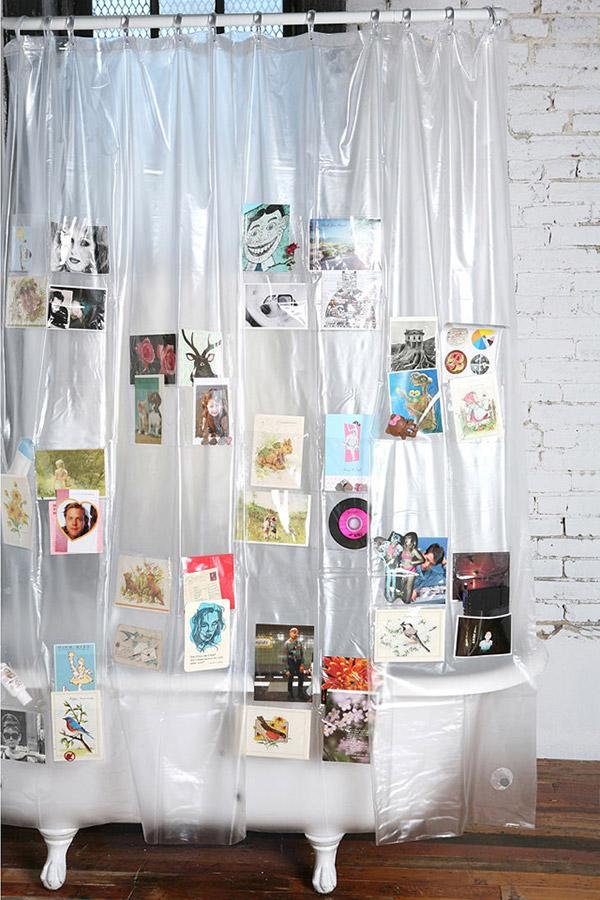 Tenha uma casa de banho mais bonita - cortinas de banho para pôr fotografias