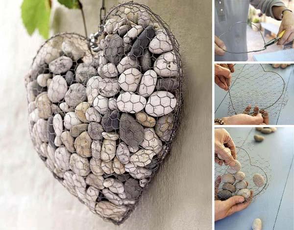 Decoração com Pedras e Seixos, 11 ideias sem custos - peças em arame moldado