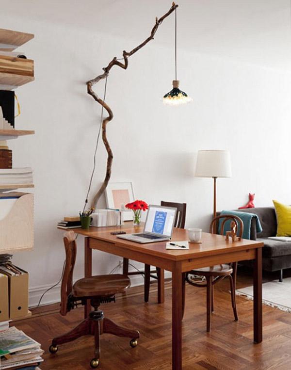 Dicas de decoração e bricolage em madeira - candeeiro