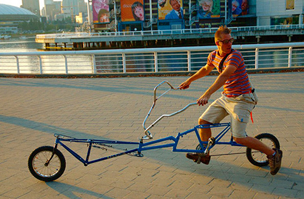 Bicicletas surpreendentes - bicicleta enorme dobrável