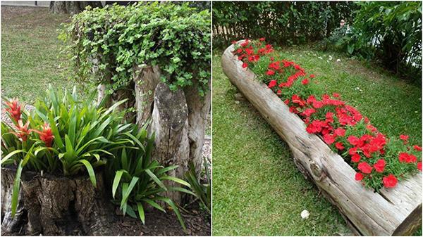 Dicas de decoração e bricolage em madeira - vaso para flores