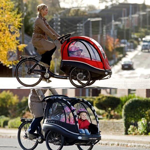 Bicicletas surpreendentes - bicicleta com cesto de crianças