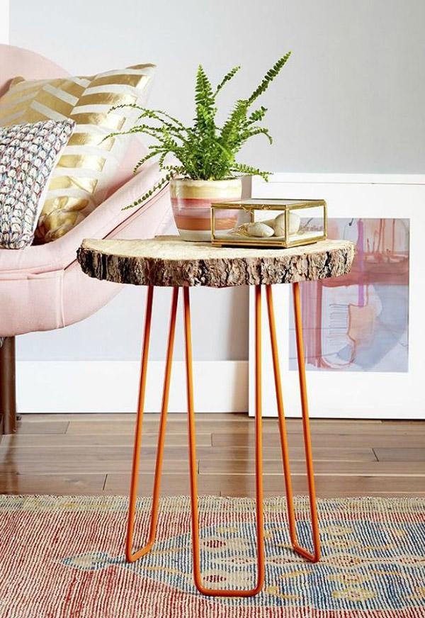 Dicas de decoração e bricolage em madeira - mesa de cabeceira