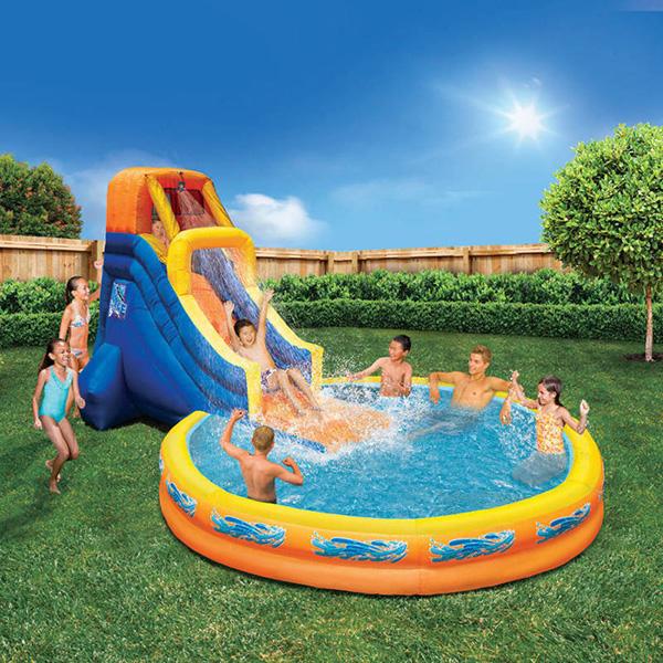 Piscinas insufláveis - piscina insuflável com escorrega