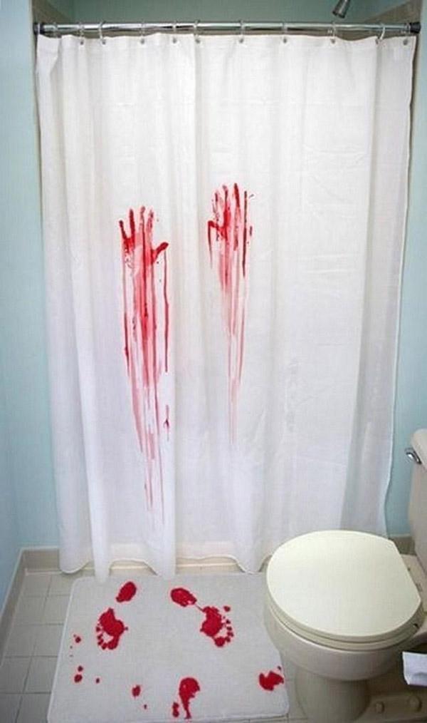 Tenha uma casa de banho mais bonita - cortinas de banho estilo Psycho, de Alfred Hitchcock