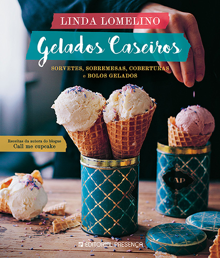 Capa do livro Gelados Caseiros, de Linda Lomelino
