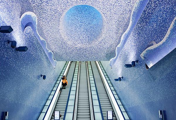 As mais belas estações do mundo - Estação de metro Toledo, Nápoles – Itália
