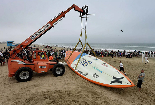 10 pranchas de surf originais - a maior prancha de surf do mundo