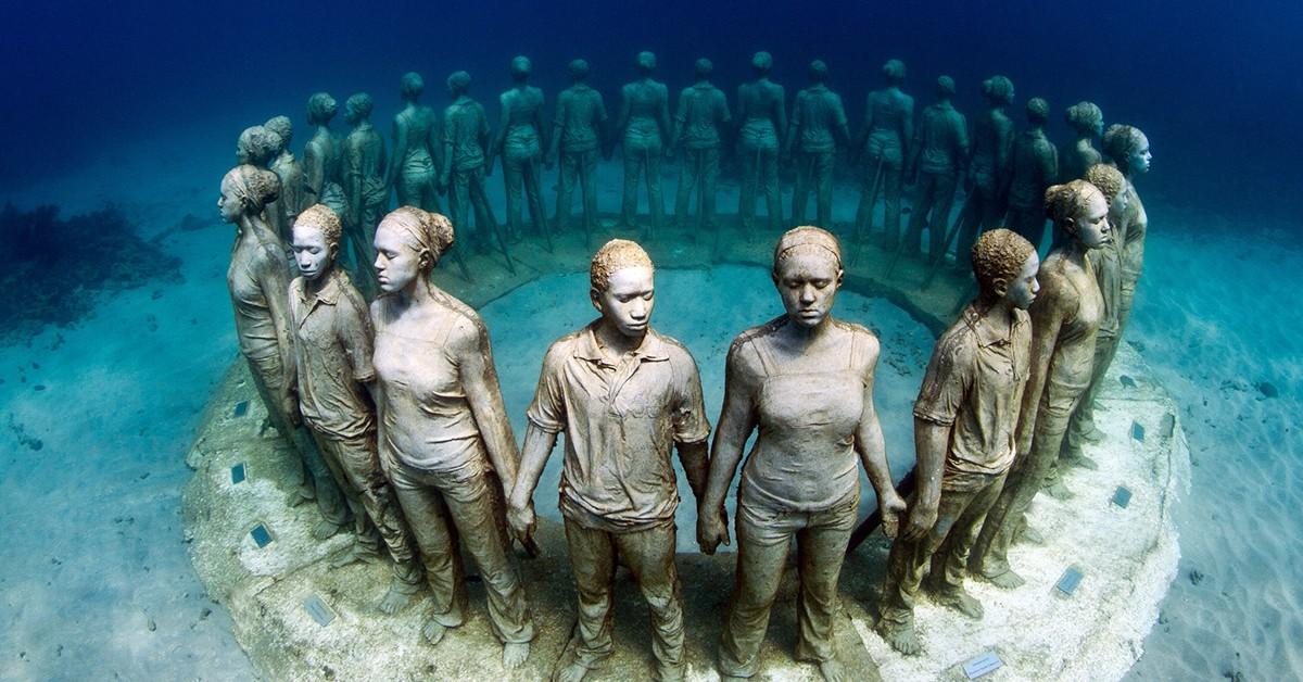 Curiosidades – 10 esculturas que só podem ser vistas debaixo de água