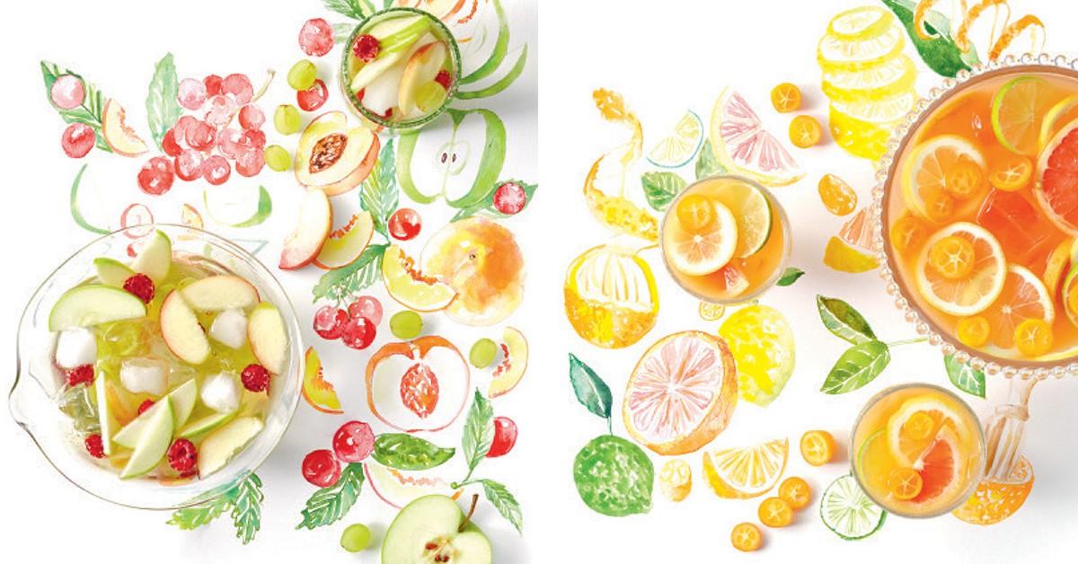 2 cocktails de fruta para fazer em casa: Sangria Blanca + Ponche de citrinos