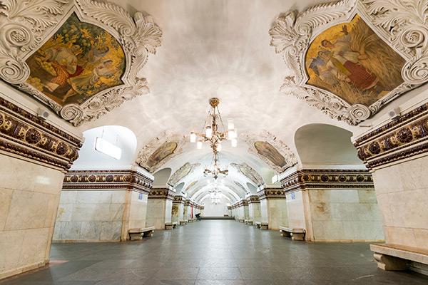 As mais belas estações do mundo - Estação de metro Kievskaya, Moscovo – Rússia