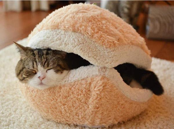 Casas amorosas para animais de estimação - cama de gato