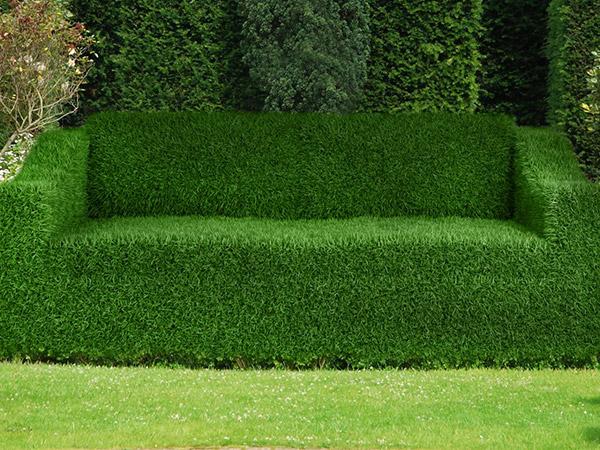 Arbustos com formas divertidas e surpreendentes - sofá