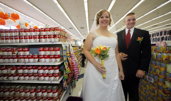 Casamentos mais originais de sempre - casamento num supermercado