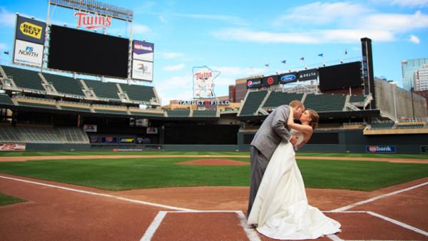 Casamentos mais originais de sempre - casamento num estádio de basebol