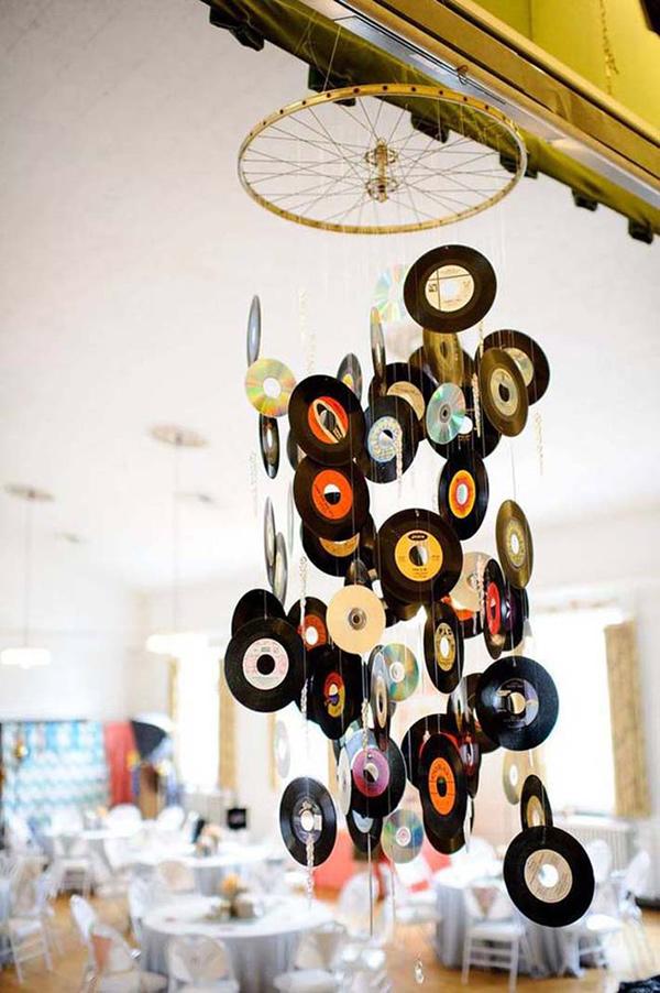 Ideias para reciclar discos de vinil - espanta espíritos musical