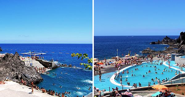 Praias do arquipélago da Madeira - Praia e piscinas de Ponta Gorda – Funchal, Ilha da Madeira