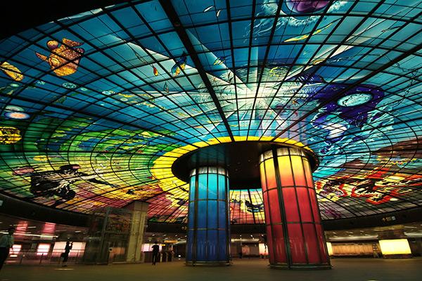 As mais belas estações do mundo - Estação de metro Formosa Boulevard, Kaohsiung – Taiwan