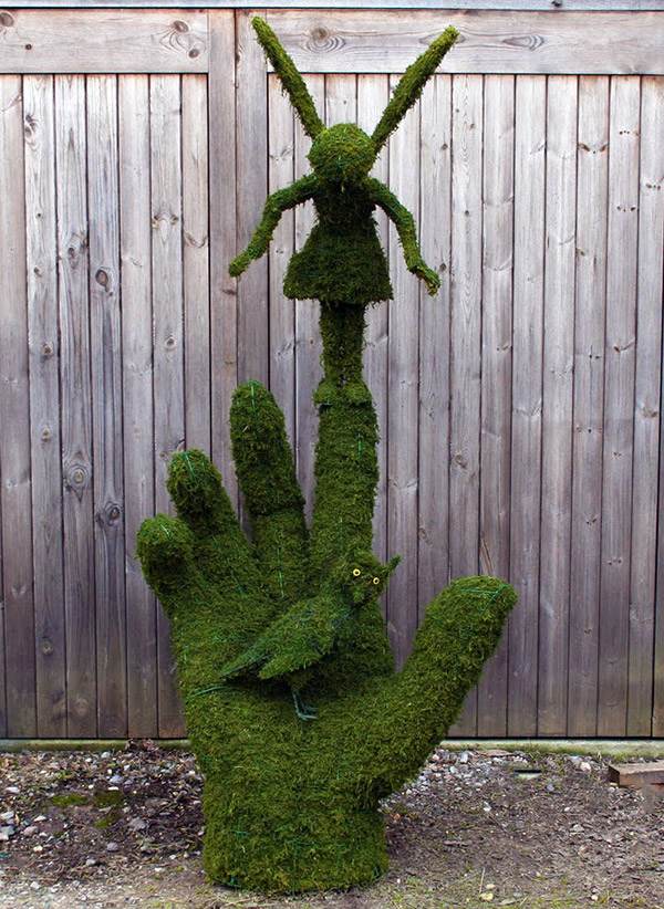 Arbustos com formas divertidas e surpreendentes - fadas