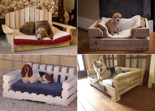 Casas amorosas para animais de estimação - uma casota de paletes