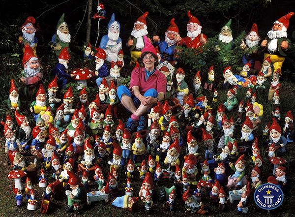 Coleções completamente loucas - coleção de duendes de jardim