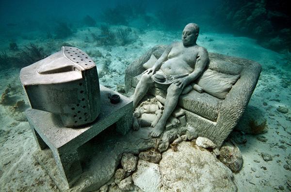 Esculturas que só podem ser vistas debaixo de água - Inertia
