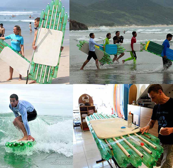 10 pranchas de surf originais - prancha feita com garrafas de plástico