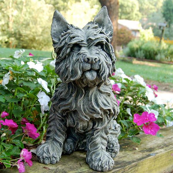 Esculturas para jardim que impressionam - cão