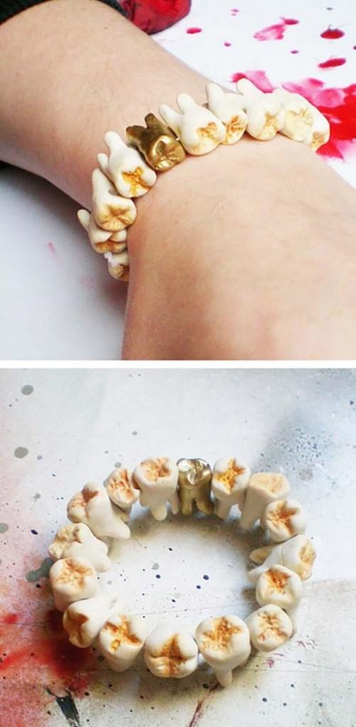 Acessórios mais bizarros de sempre - pulseira com dentes