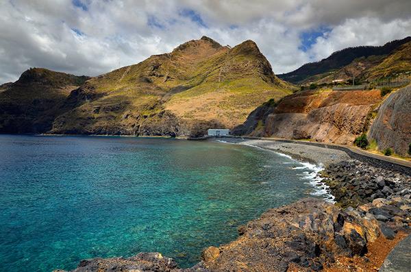 Praias do arquipélago da Madeira - Praia da Ribeira Natal – Machico, Ilha da Madeira