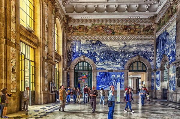 As mais belas estações do mundo - Estação Ferroviário de Porto - São Bento, Porto – Portugal