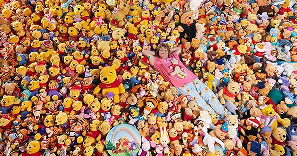 Coleções completamente loucas - coleção de bonecos Ursinho Pooh