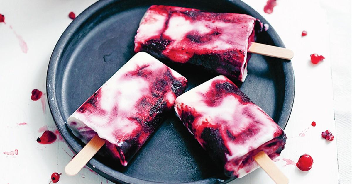 Gelados de mirtilo e iogurte – Faça você mesmo
