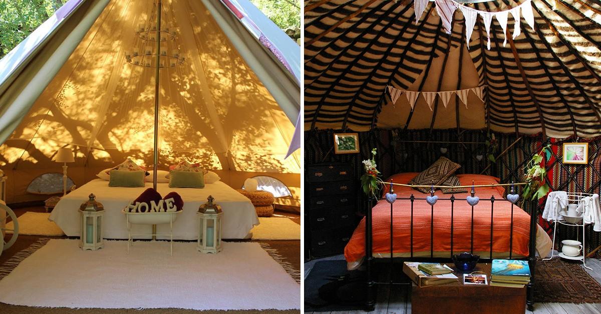 Glamping – 9 ideias para acampar com todo o conforto