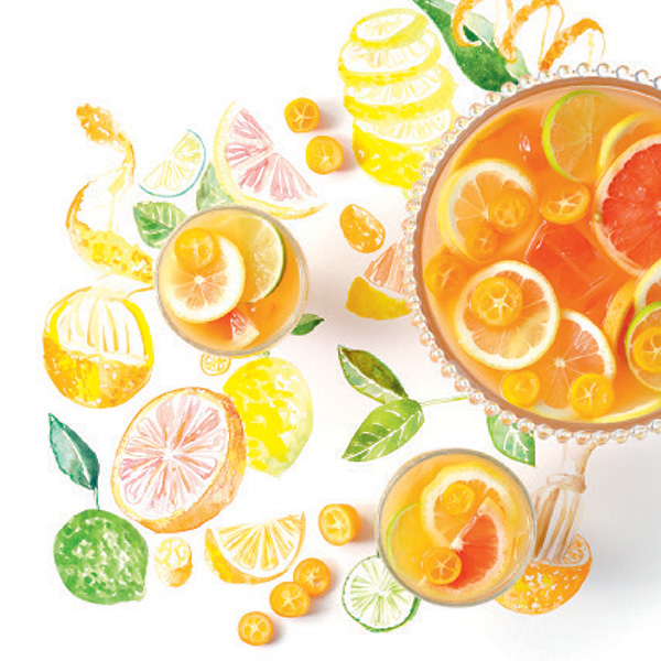 Cocktails de Fruta - Ponche de citrinos