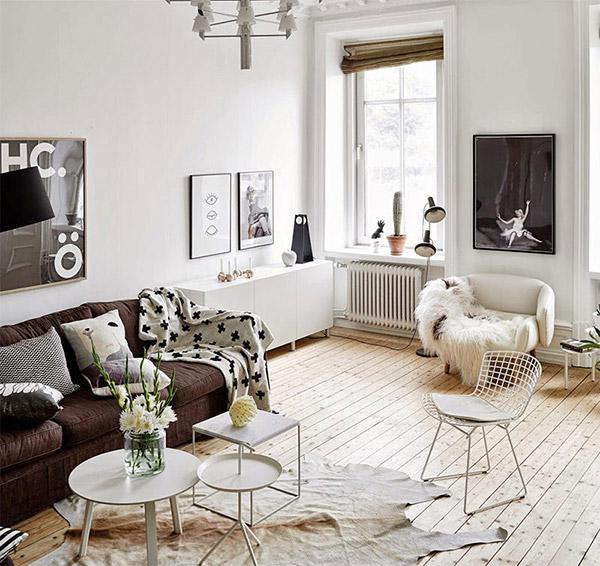 Decoração com mantas e almofadas - na sala
