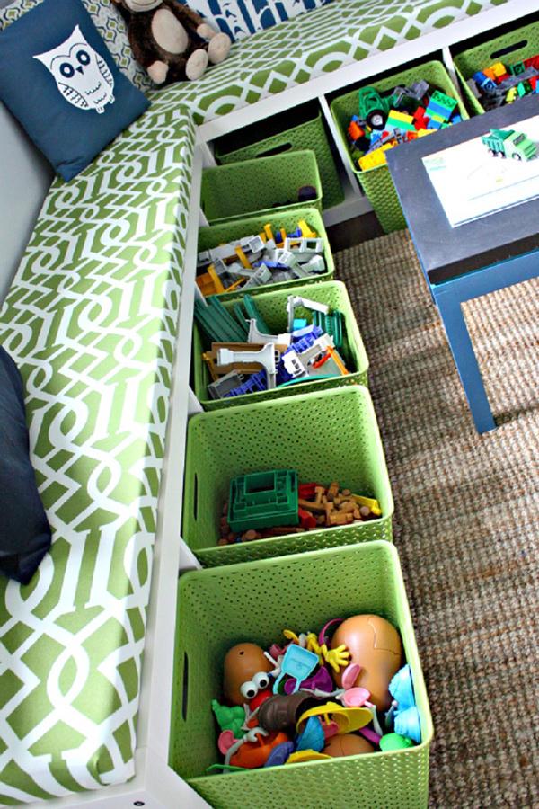 Quartos mais arrumados e organizados - coloque-se à altura da criança