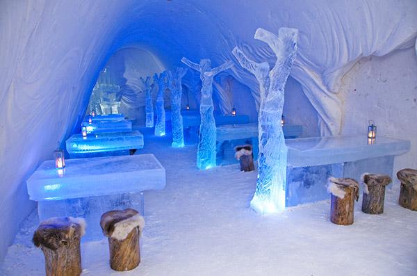 Restaurantes mais surpreendentes do mundo - restaurante feito de gelo, Finlândia