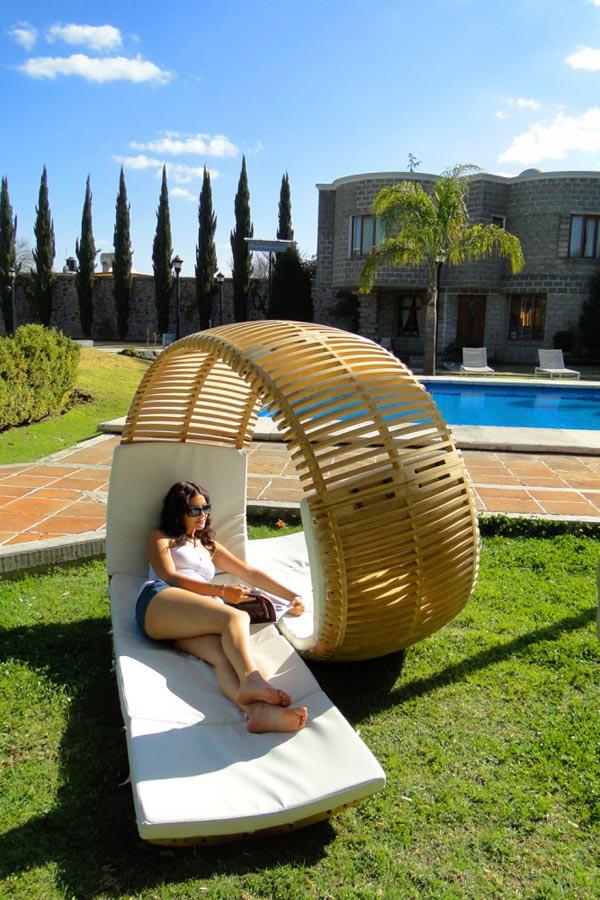 Sugestões de decoração: chaises longues - uma chaise longue cheia de design
