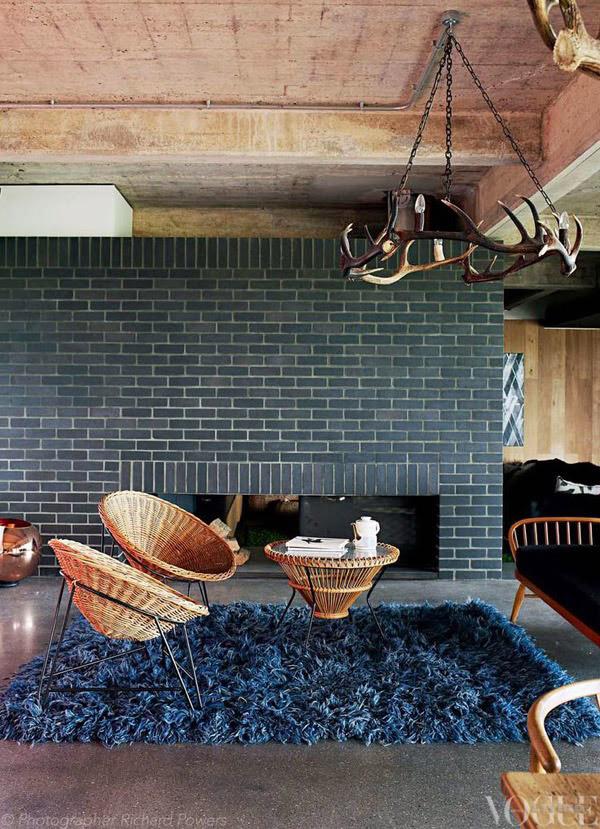 Decoração com mantas e almofadas - tapete de sala