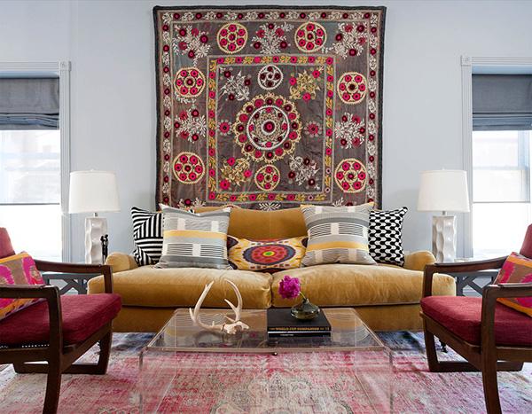 Embelezar as paredes de sua casa - peças de artesanato étnicas