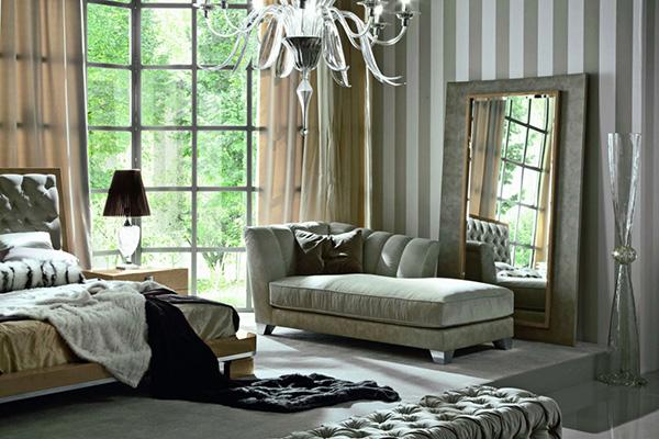Sugestões de decoração: chaises longues - para quartos espaçosos