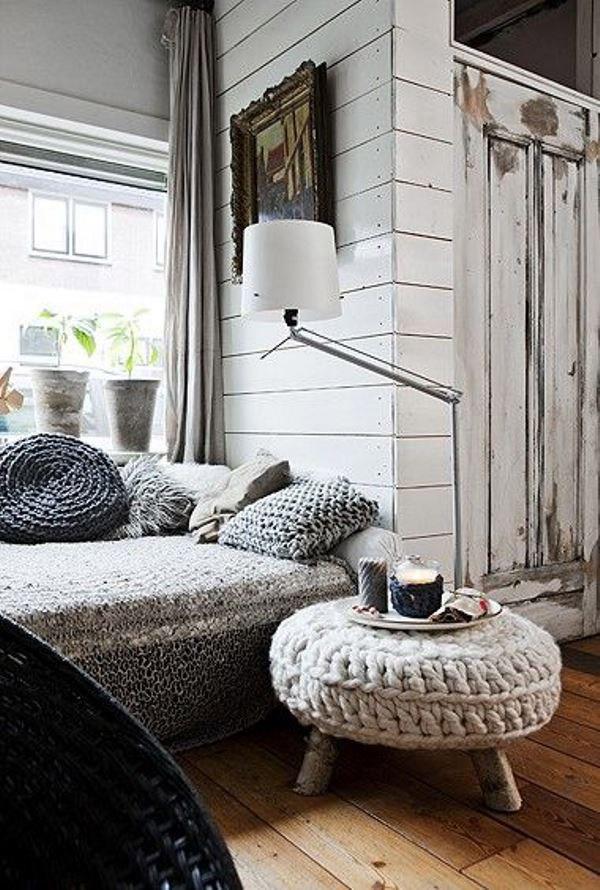 Decoração com mantas e almofadas - almofadões