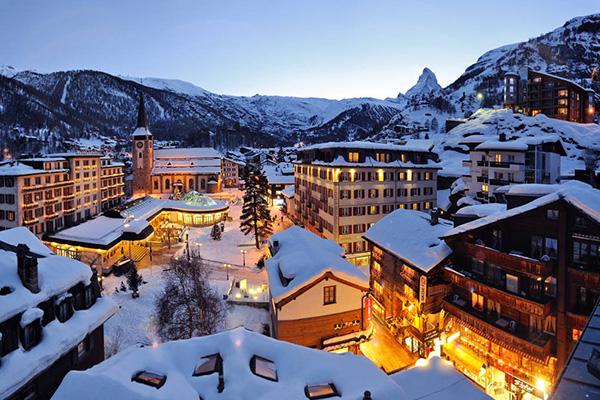 Destinos de neve românticos - Zermatt, Suíça
