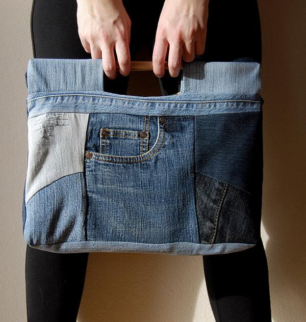 Reciclar calças de ganga - mala