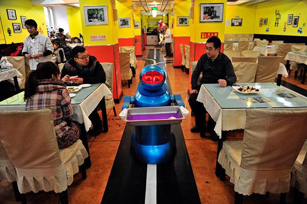 Restaurantes mais surpreendentes do mundo - neste restaurante as refeições são servidas por robôs