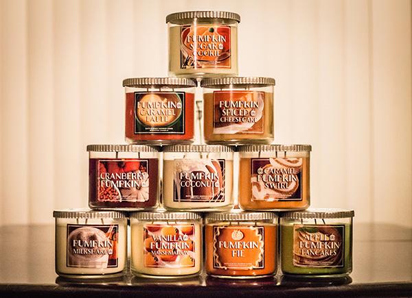 Decoração de Outono, dicas úteis - Mude as velas aromáticas