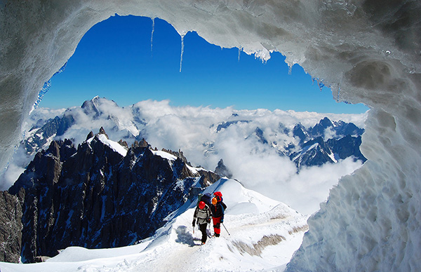 Destinos de neve românticos - Chamonix, Mont Blanc - França