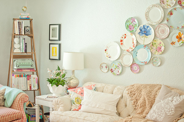 Embelezar as paredes de sua casa - coleção de pratos